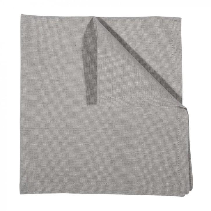 LEDA serviette 4er pack 45x45, light grey