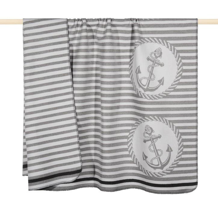 ANCHORAGE Decke 150x200 cm, grey