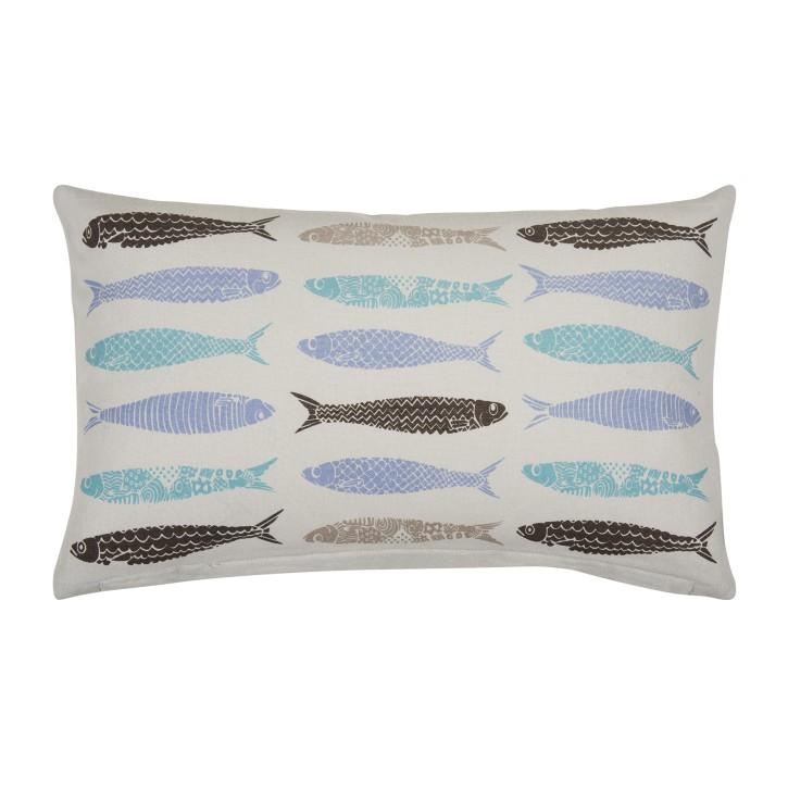 FISH Kissenhülle 30x50, grey