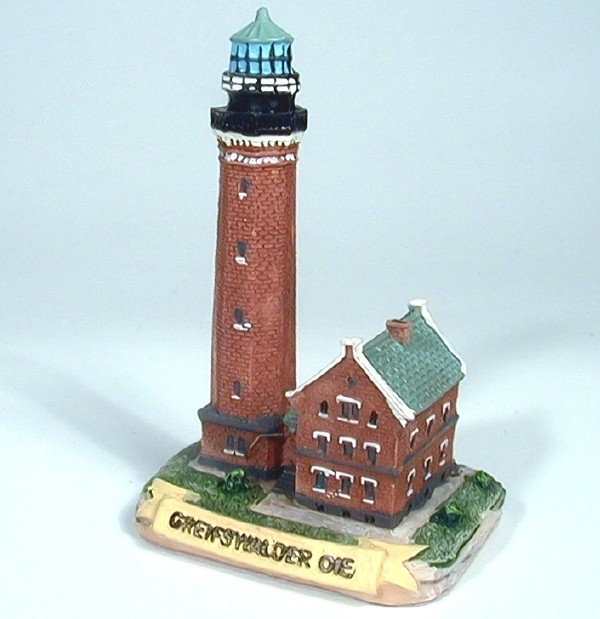 Leuchtturm Greifswalder Oie 6x5x9 cm Gießharz