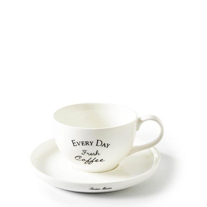 Riviera Maison Every Day Fresh Coffee Cup & Saucer
