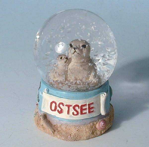 Schneekugel Seehund Ostsee 45mm