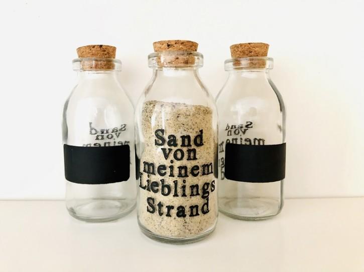 """Flasche """"Sand von meinem Lieblings-Strand"""""""