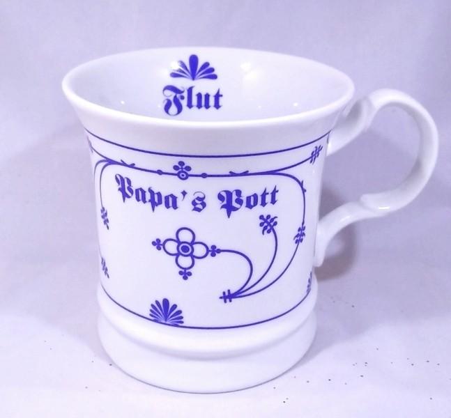 Herrenbecher Papa´s Pott - Indisch Blau Porzellan