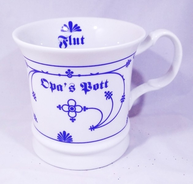 Herrenbecher Opa´s Pott - Indisch Blau Porzellan