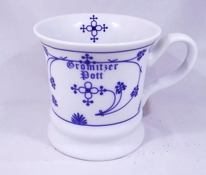 Herrenbecher Grömitzer Pott - Indisch Blau Porzellan