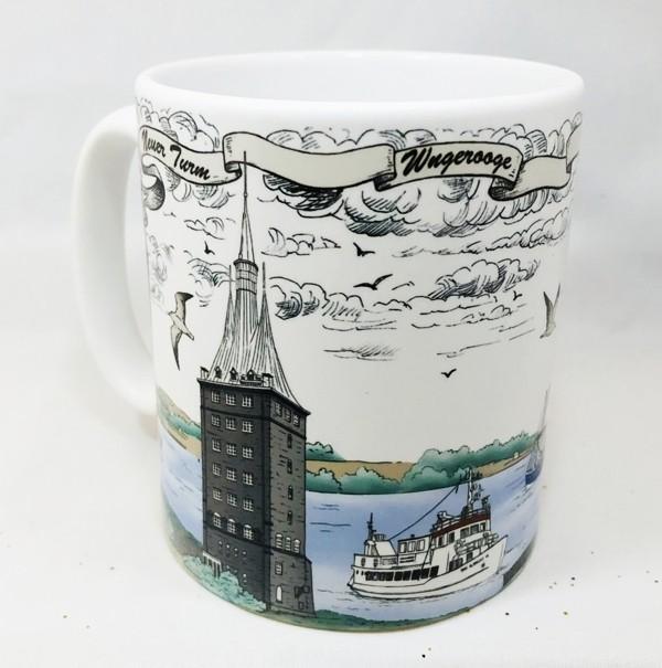 Becher Leuchtturm Wangerooge