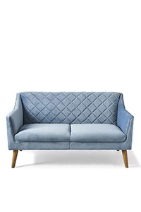 Contessa Sofa 2S Velvet Ice Blue