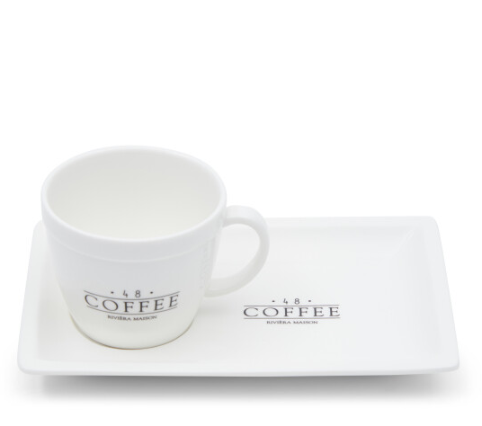 Riviera Maison 48 Coffee – Tasse und Untertasse