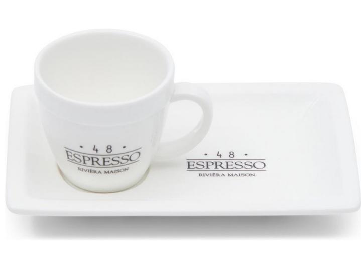 Riviera Maison 48 Espresso – Tasse und Untertasse