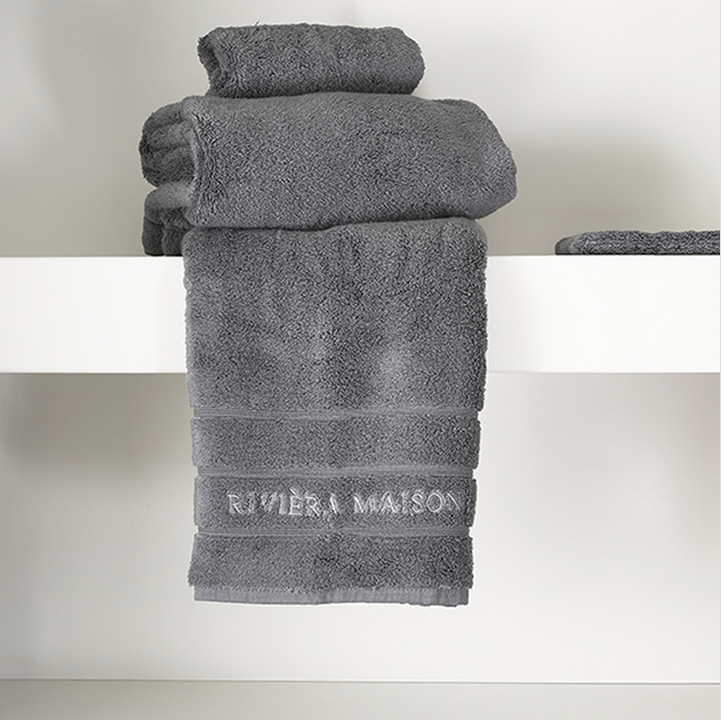Riviera Maison Hotel Towel anthracite 100x50
