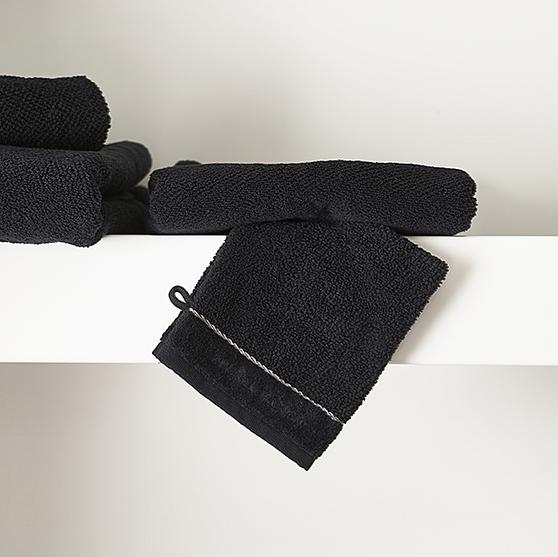 Riviera Maison Elegant Washcloth black