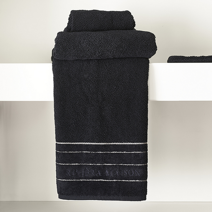 Riviera Maison Elegant Towel black 100x50