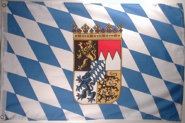 Flagge BAYERN MIT Wappen 60x90cm