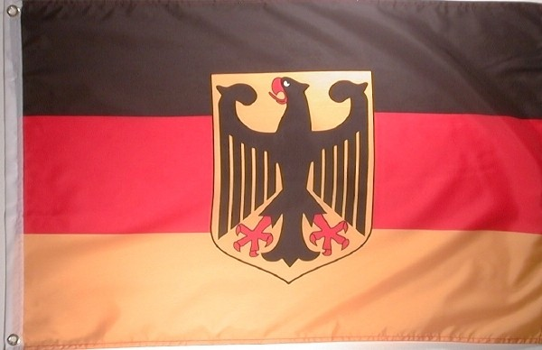 Flagge DEUTSCHLAND MIT ADLER 60x90cm