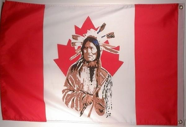 Flagge CANADA MIT INDIANER 60x90cm