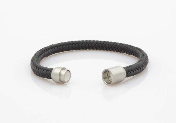 Armband Segeltau dunkelgrau 6mm-L