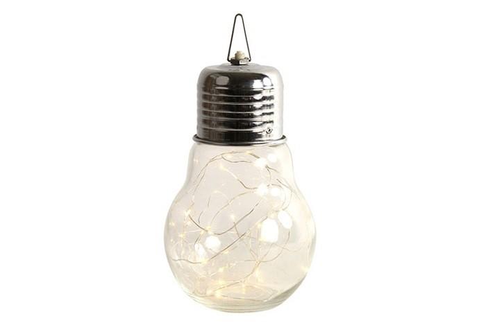 Lampe Birne LED mit Timer rund klar Länge:  14cm  Breite:  14cm  Höhe:  24cm