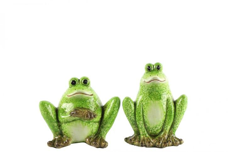 2er Setcm Frosch Plons S  grün