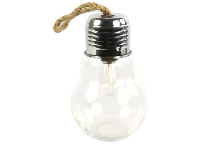 Lampe Birne LED mit Timer Klar 24x14,5cm
