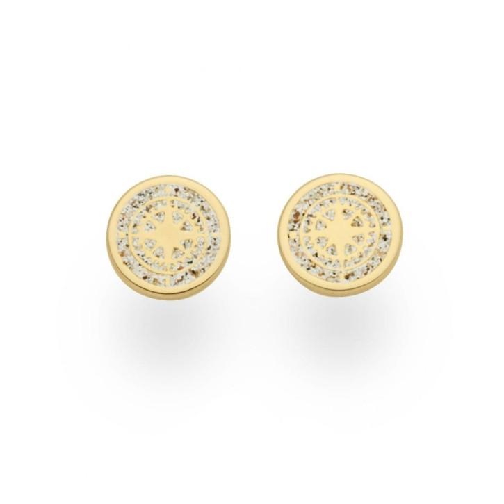Ohrring Kompass vergoldet