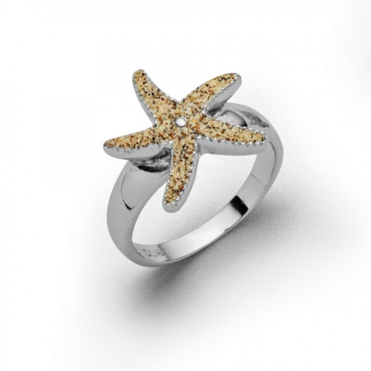 Ring  Seestern 1,5cm - Ringgröße: 52