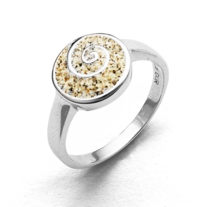 Ring  Sandspirale 1,1cm - Ringgröße: 50