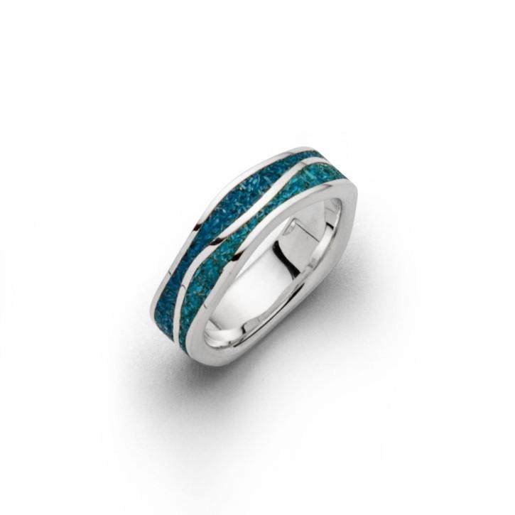 Ring Meeresblau schmal - Ringgröße: